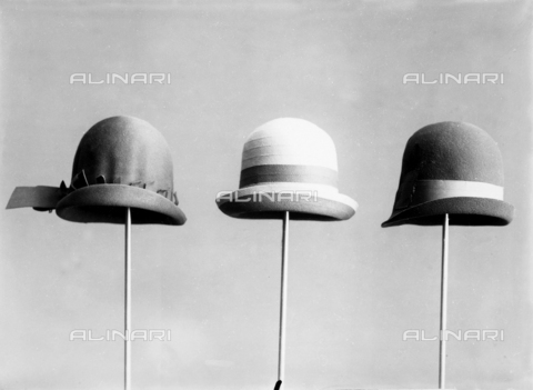 WWA-F-002000-0000 - Three hats from the 30's
