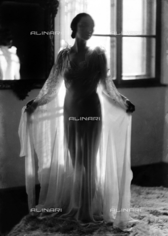 WWA-F-002919-0000 - Mrs. Blasig in a night gown