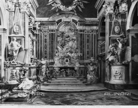 aca-f-019112-0000 - L'interno della Cappella Sansevero o Santa Maria della Pietà dei Sangro o Pietatella, a Napoli - Data dello scatto: 1915-1920 ca. - Archivi Alinari-archivio Alinari, Firenze