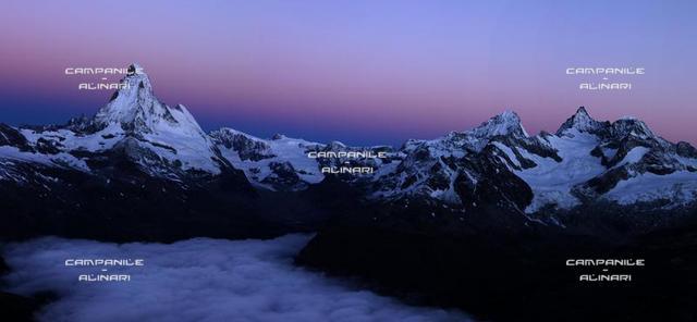 Matterhorn (Cervino) from Rothorn, Zermatt, Vallese; Switzerland; Europa