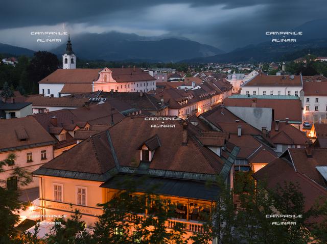 Kamnik centro storico, Gorenjska, Slovenia, Europe