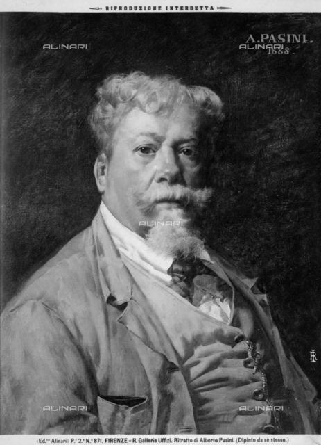 Self-portrait painting of Alberto Pasini