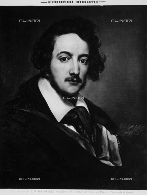 Self-portrait painting of Francesco Podesti