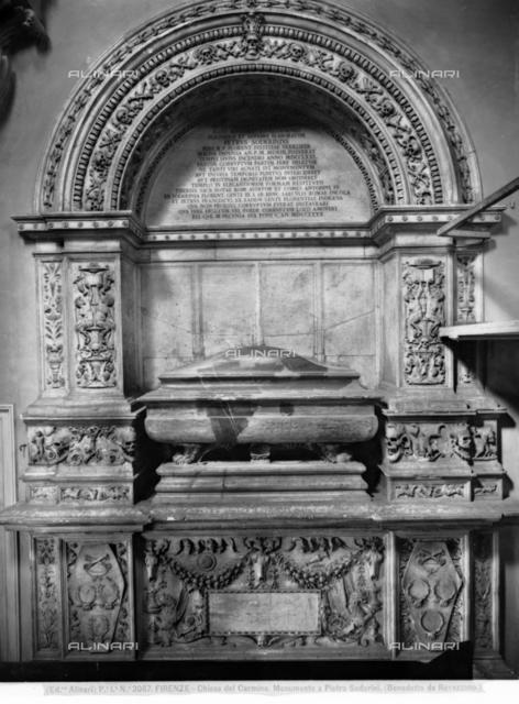 Monument to Peter Soderini, marble, Benedetto da Rovezzano (1474-1554), Basilica of S. Maria del Carmine, Florence