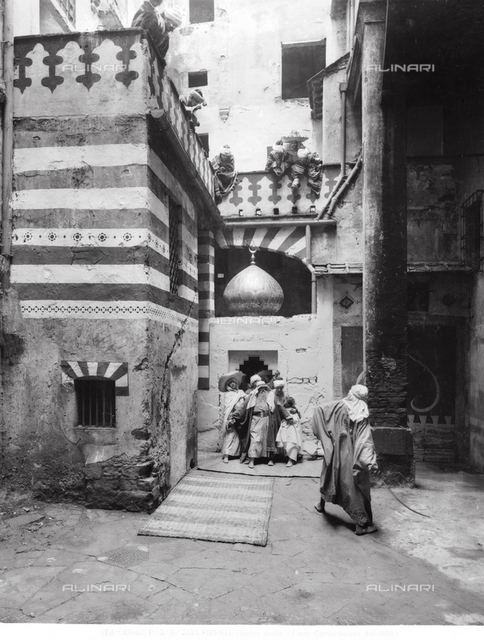 Carnival festivities in Arab costume, held in the old Jewish ghetto of Florence, in 1886