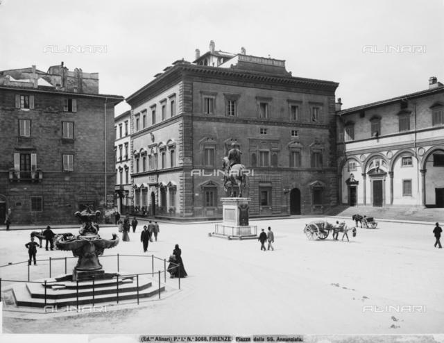 Piazza della SS.Annunziata in Florence