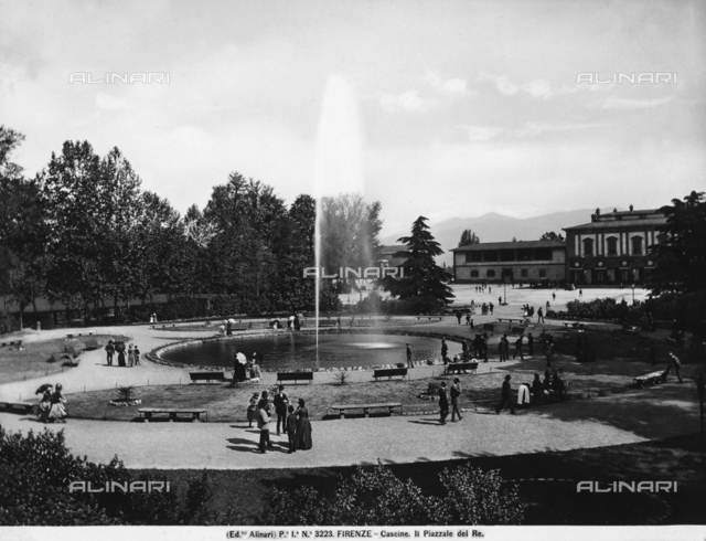The Piazzale delle Cascine in Florence