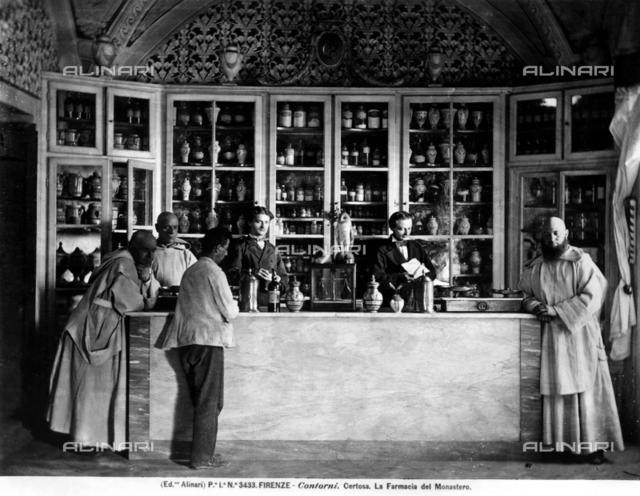 Interior of the old pharmacy of the Certosa del Galluzzo