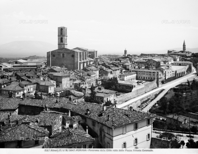 View of the city of Perugia