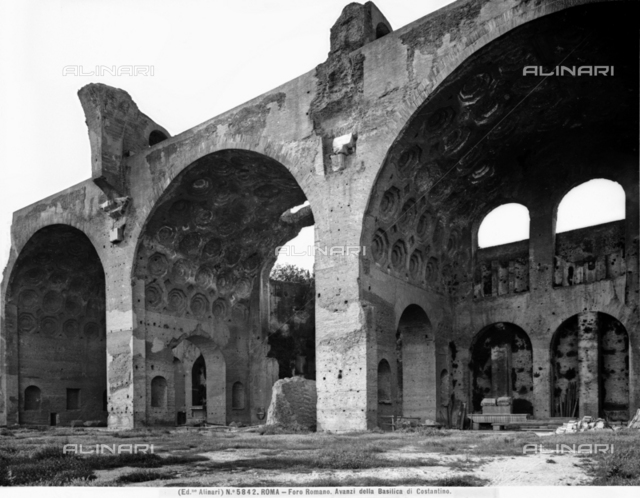 Basilica of Maxentius or of Constantine, Roman Forum, Rome