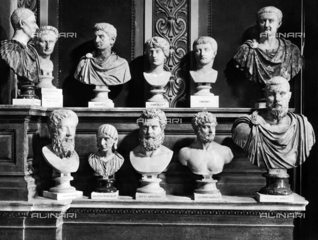 Roman emperors and empresses, Hall of the Emperors, Capitoline Museums, Rome