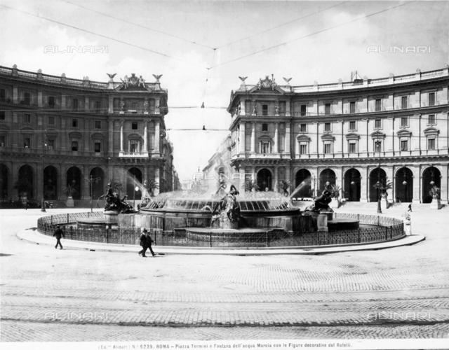 The Fountain of the Naiads, or of the Esedra, in Piazza della Repubblica in Rome