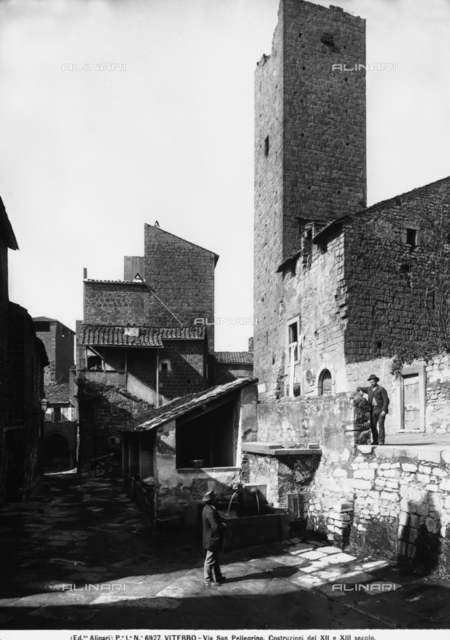 Houses in the Medieval quarter, Viterbo