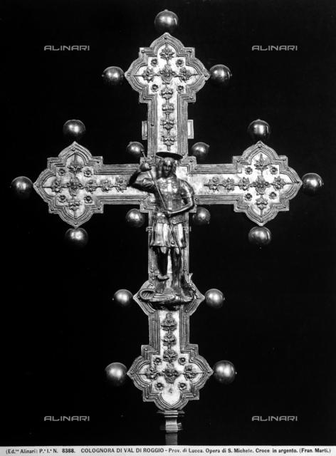 Silver Cross, formerly in the Opera di San Michele, Colognora di Val di Roggio, Lucca