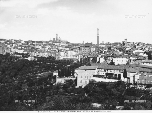 View of Siena seen from Campanile dei Servi