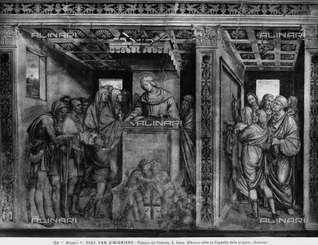 St. Ivo administering justice, Palazzo del Popolo, S. Gimignano.