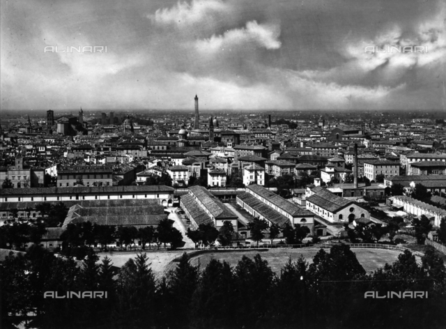 Panorama of the city of Bologna