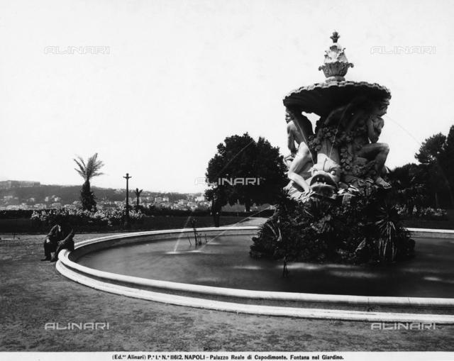 A fountain in the park of Capodimonte, Naples