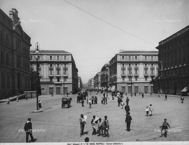 View of Corso Umberto I, Naples