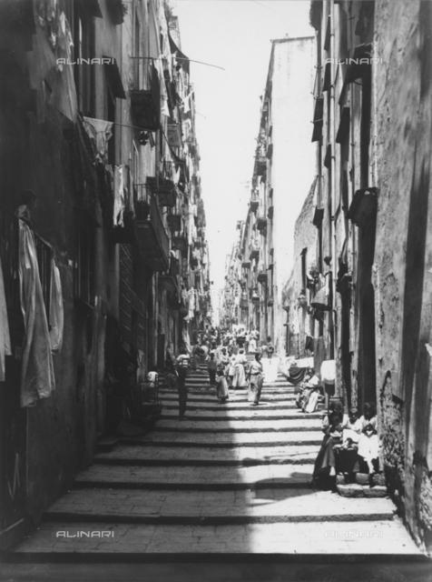 Via del Pallonetto in the quarter of Santa Lucia, Naples