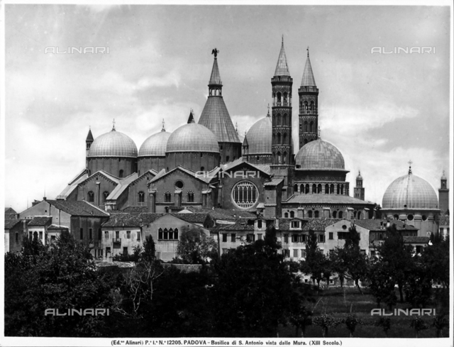 """St. Anthony's Basilica,  also known as """"Basilica Del Santo,"""" Padua"""