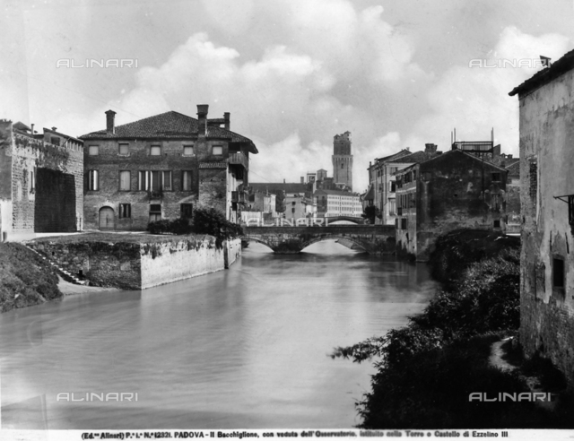 Panoramic view of Padua with a glimpse of the Tower of the Observatory in the background