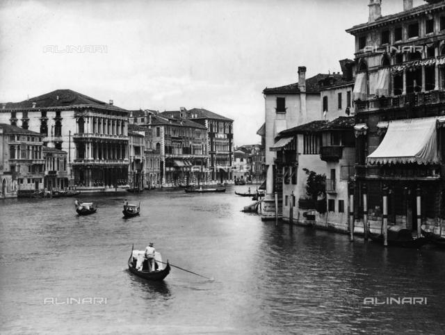 The Grand Canal with Ca' Rezzonico and Ca' Foscari in Venice