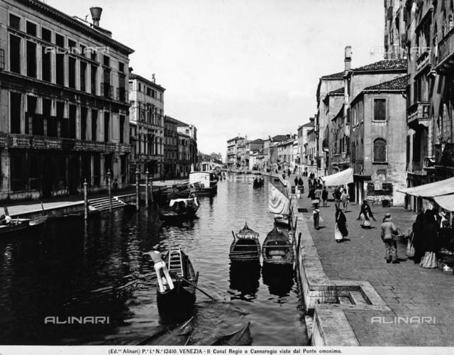 View of Cannaregio from the Ponte Cannaregio in Venice.