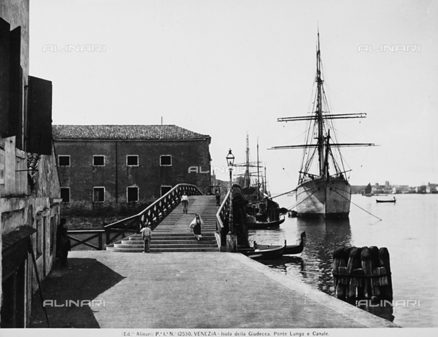 The Ponte Lungo and the Giudecca Canal in Venice