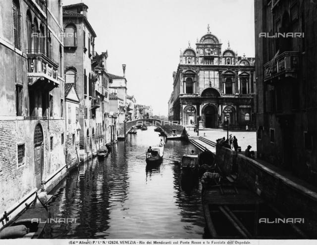 Rio dei Mendicanti with the Ponte Rosso and the hospital faà§ade