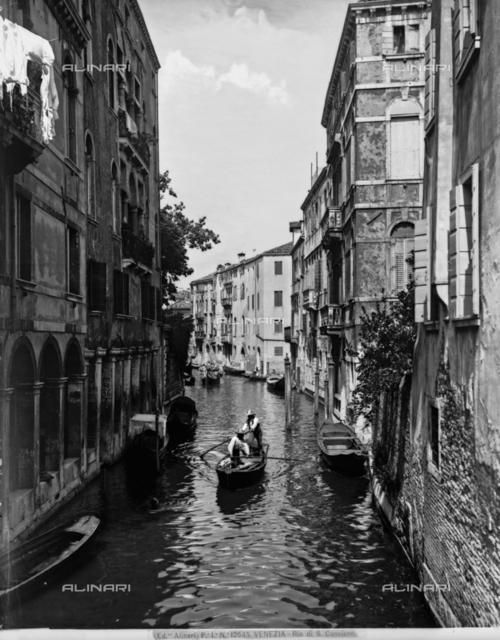Houses on the Rio San Canciano, in Venice, Veneto