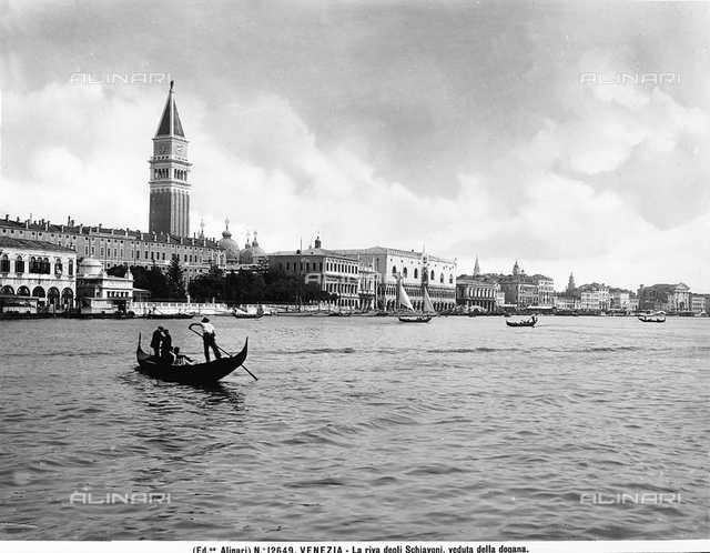 The Riva degli Schiavoni in Venice, viewed from the Dogana, or Customs House