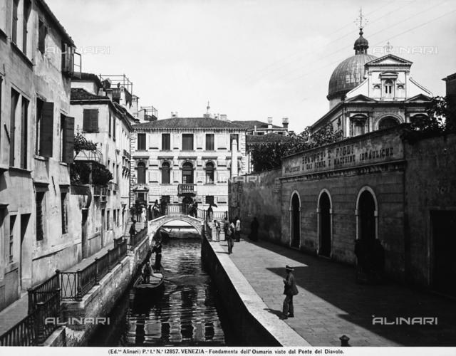 Fondamenta dell'Osmarin seen from the Ponte del Diavolo