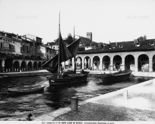The little port of Desenzano del Garda