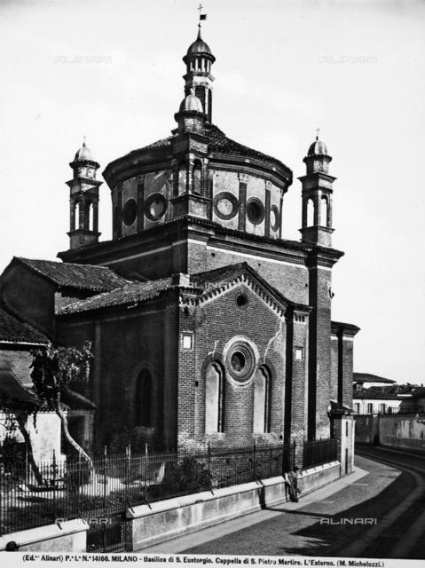 Portinari Chapel, exterior, Basilica of S. Eustorgio, Milan