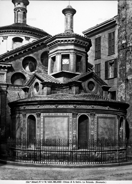 Chapel of Pietà, exterior; Church of Santa Maria at San Satiro, Milan
