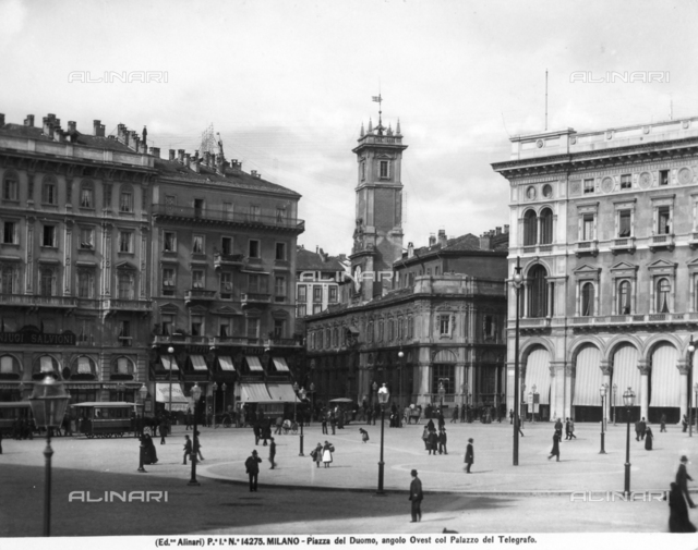Piazza del Duomo in Milan, with the Telegraph Building