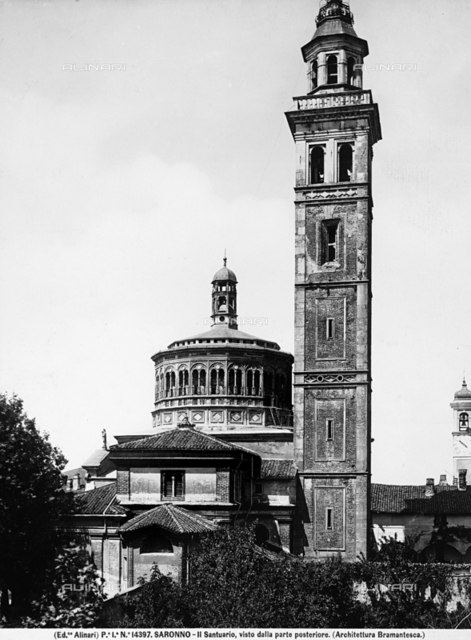 Bell tower, Sanctuary of the Madonna of Miracles, Saronno, Varese