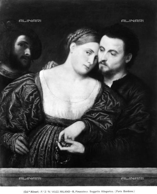 'Venetian Lovers', in the Brera Gallery in Milan