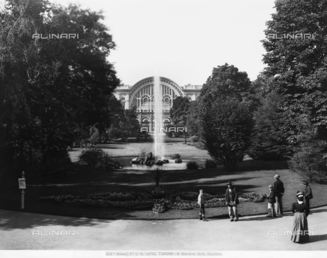 Garden, Carlo Felice Square, Turin.