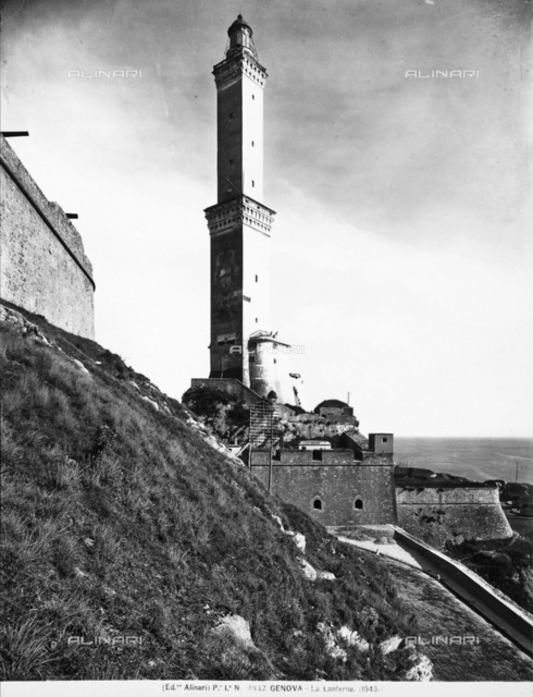 View of the Genoa lighthouse called the Lantern
