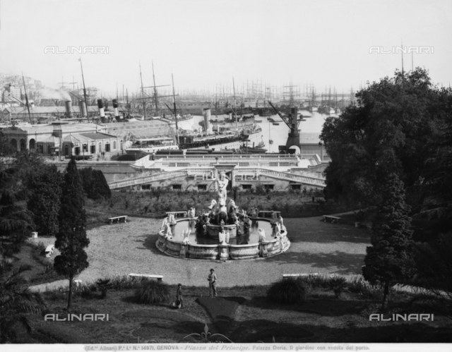 Neptune's Fountain, Garden, Doria Pamphilj Palace, Genoa