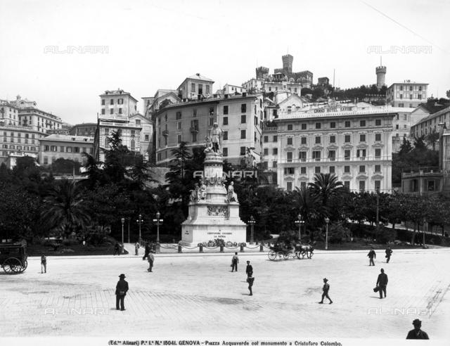Monument to Raffaele Rubattino, Piazza Caricamento, Genoa