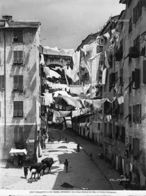 View of Via Gran Madre di Dio in Genoa