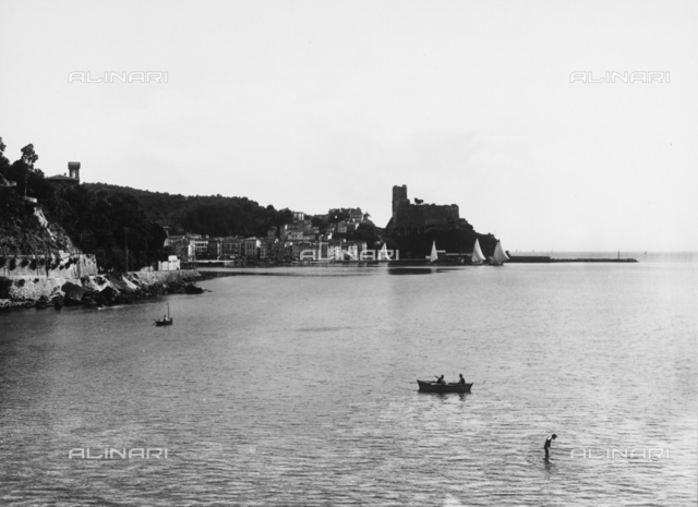 The gulf and the village of Lerici, seen fron the Castle of San Terenzio, near La Spezia