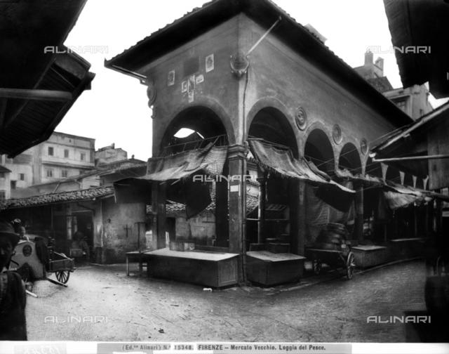 Florence. Loggia del Pesce in the Mercato Vecchio area