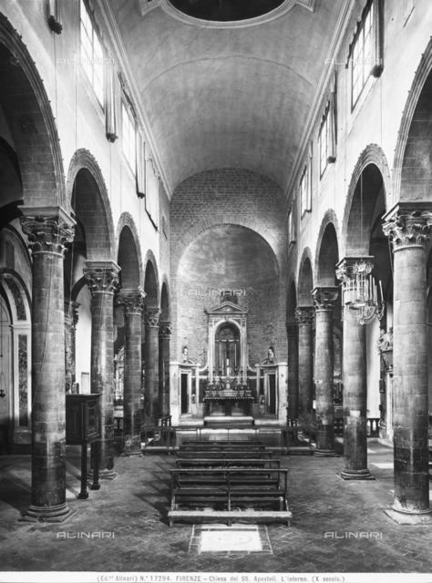 Interior, Church of the Santissimi Apostoli, Florence