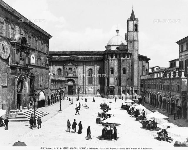 Side of the Church of S. Francesco and Loggia dei Mercanti, Ascoli Piceno.