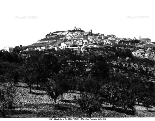 Panorama of the city of Fermo
