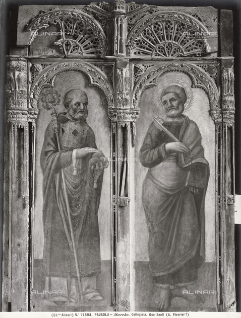 San Nicola and San Pietro, Church of San Pietro and San Paolo, picture gallery, Corridonia (ex-Pausula), Macerata